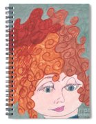 Curly Red Hair Spiral Notebook