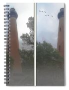 Currituck Beach Light Station - 3d Stereo Crossview Spiral Notebook