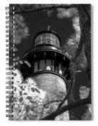 Currituck Beach Lighthouse In Infrared Spiral Notebook