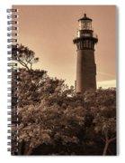 Currituck Beach Lighthouse - Sepia Spiral Notebook