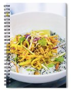 Curry Sauce Vegetable Salad With Noodles And Sesame Spiral Notebook