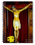 Curtains And Cross Spiral Notebook