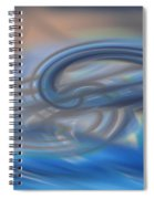 Curved Lines Spiral Notebook