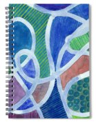 Curved Paths Spiral Notebook