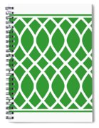 Curved Trellis With Border In Dublin Green Spiral Notebook