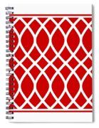 Curved Trellis With Border In Red Spiral Notebook