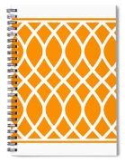 Curved Trellis With Border In Tangerine Spiral Notebook
