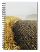 Curves And Fog Spiral Notebook