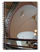 Stairs With Curved Lines Spiral Notebook