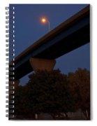 Curvy Bayview Evening -luther Fine Art Spiral Notebook