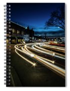 Curvy Night Time Traffic Spiral Notebook
