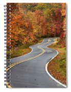 Curvy Road In The Mountains Spiral Notebook