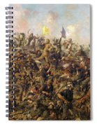 Custer's Last Stand From The Battle Of Little Bighorn Spiral Notebook