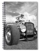 Custom Rod - Black And White Spiral Notebook