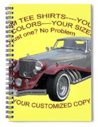 Custom Tee Shirts Spiral Notebook