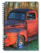 Customized Rust 1949 Ford Pickup Truck Spiral Notebook