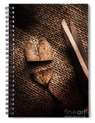 Cut Heart Leaf, Fall Of Love Spiral Notebook