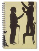Cut Silhouette Of Four Full Figures 1830 Spiral Notebook
