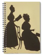 Cut Silhouette Of Two Women Facing Right 1837 Spiral Notebook