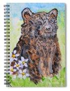 Cute Baby Black Bear Art Spiral Notebook