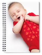 Cute Baby Boy Yawning Spiral Notebook