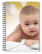 Cute Four Month Old Baby Boy Spiral Notebook