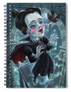 Cute Gothic Horror Vampire Woman Spiral Notebook