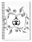 Cute Ladybug Baby Room Decor Vi Spiral Notebook