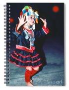 Cute Little Thai Girl Dancing Spiral Notebook