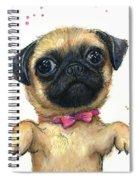 Cute Pug Puppy Spiral Notebook