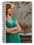 Cute Strawberry Blonde Girl Spiral Notebook