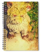 Cute Weathered White Garden Ornament Of A Dog Spiral Notebook
