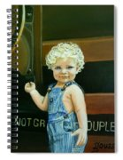 Cutie By The Train Spiral Notebook