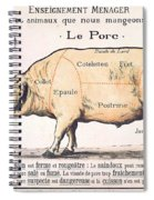 Cuts Of Pork Spiral Notebook