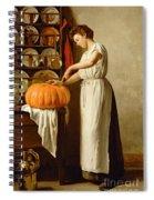 Cutting The Pumpkin Spiral Notebook