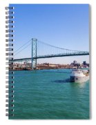 Cuyahoga Downbound At Detroit Spiral Notebook