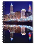 Cuyahoga Reflecting The City Above Spiral Notebook