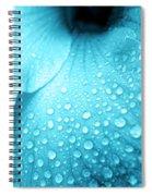 Aqua Droplets Spiral Notebook