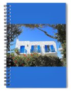 Cycladic Architecture - 4161 Spiral Notebook