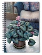 Cyclamen And Wicker Spiral Notebook