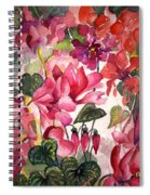 Cyclamen Spiral Notebook