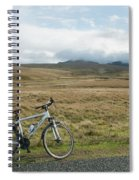 Cycle Across The Beacons Cycle Route. Spiral Notebook