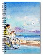 Cycling In Port De Pollenca In Majorca Spiral Notebook