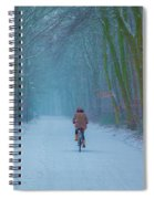 Cycling In The Snow Spiral Notebook