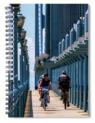 Cycling The Bridge Spiral Notebook