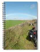 Cycling To The Rainbow Spiral Notebook