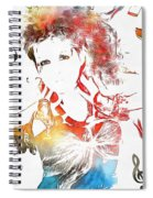 Cyndi Lauper Watercolor Spiral Notebook