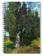 Cypresses With Two Figures, By Vincent Van Gogh, 1889-1890, Krol Spiral Notebook