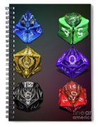 D4-20 Dragon Dice Poster Spiral Notebook