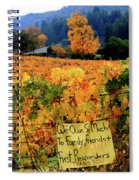 D8b6314 Autumn At Jack London Vinyard With Thanks To Firefighters Ca Spiral Notebook